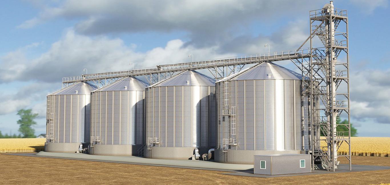 изображение зернохранилищ
