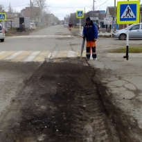 Г. Темрюк. Текущий ремонт улицы Октябрьская
