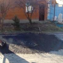 Город Темрюк. Текущий ремонт улицы Октябрьская